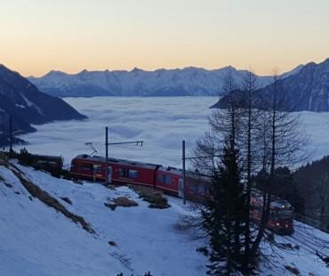 Morgendämmerung Alp Grüm